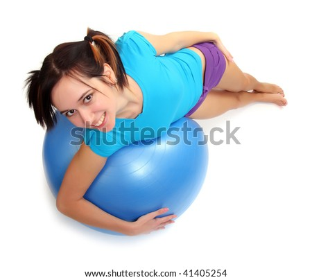 Shot of a sporty young woman with pilates ball. Active lifestyle.