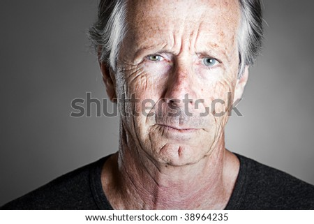 Shot of a Stern Looking Senior Man