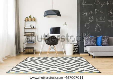 Student room stock images royalty free images vectors for Minimalist student room