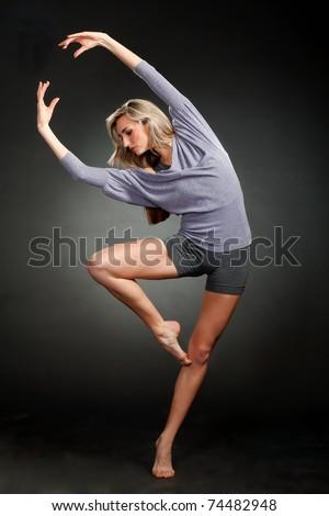 Shot of an expressive dancer - stock photo