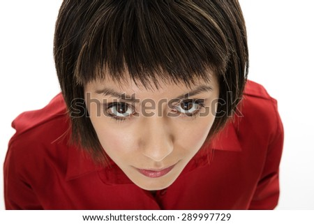 shot of businesswoman from above  - stock photo