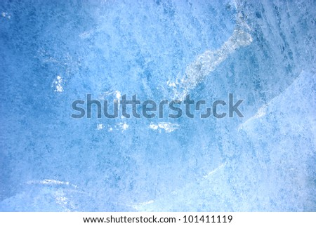 Shot of ice detail in a glacier - stock photo