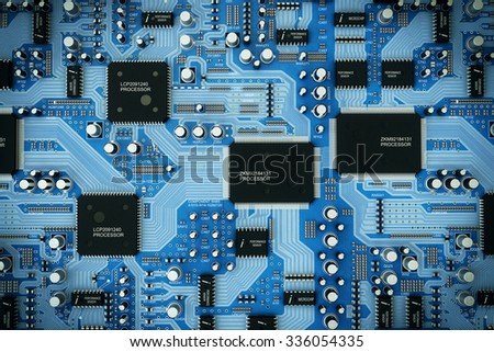 Shot of integrated circuit board.  - stock photo