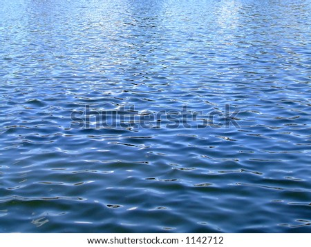 Shot of lake rippling water surface