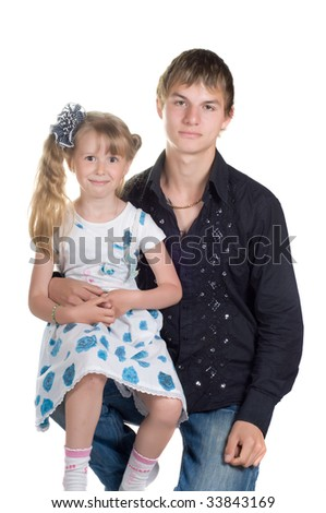 Shot of little girl and shis brother