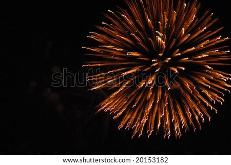 Shot of some fireworks on central Florida, Orlando. - stock photo