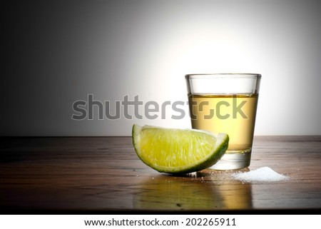 shot of tequila - stock photo