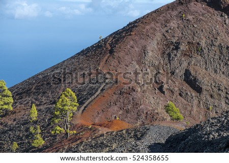 "Shot of the famous hiking path ""Ruta de los vulcanos"" , taken in the south of la Palma nearby Los Canarios."