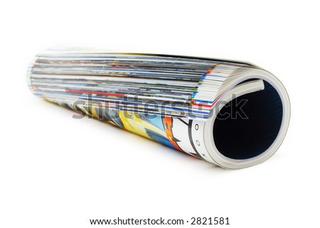 shot of the magazine roll (Shallow DOF) on a white background with pretty shadow