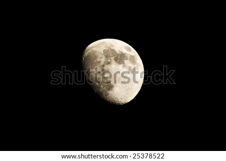 Shot of the moon on a clear night