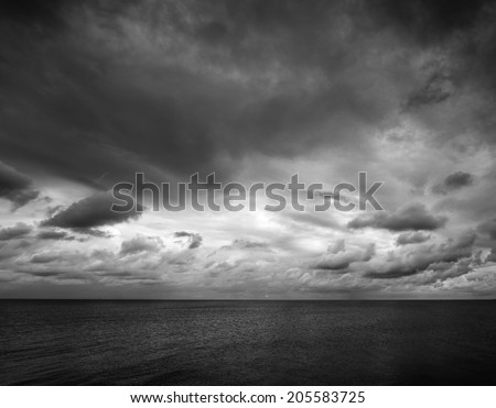 shot taken on east mersea island looking out across the sea with a moody sky