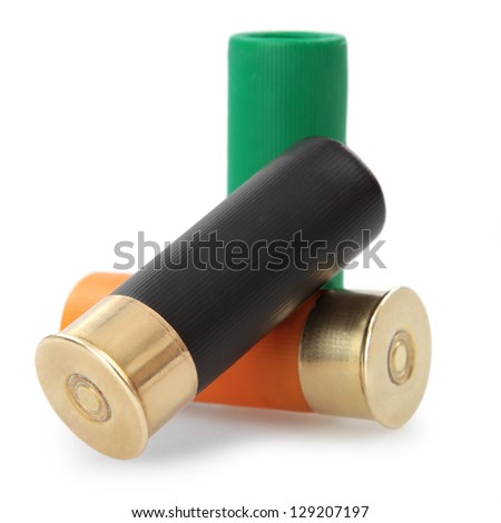 shotgun cartridges isolated on white background