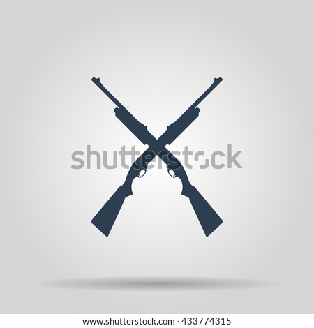 Shotgun icon. concept illustration for design. - stock photo