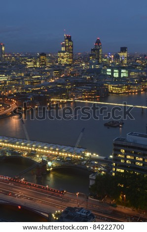 Shots of the London Skyline - stock photo