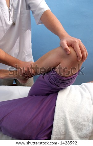 shoulder massage - stock photo