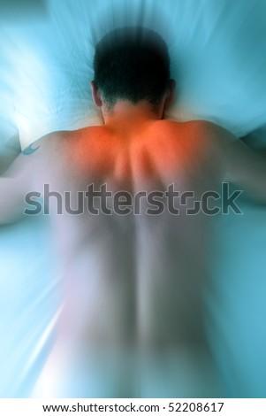 Shoulder Neck Back Pain. - stock photo