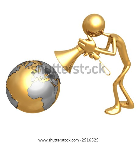 Shout To The World - stock photo