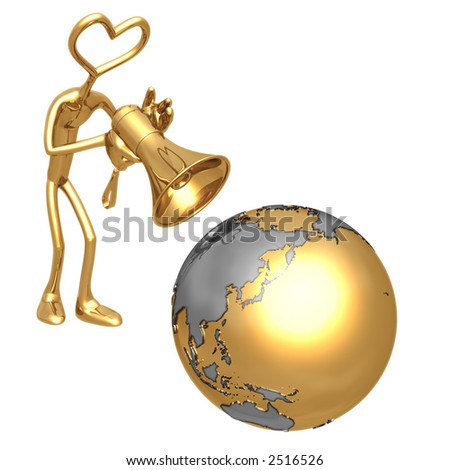Shout To The World Love - stock photo
