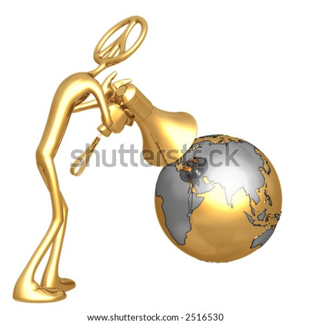 Shout To The World Peace - stock photo