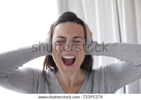Shouting woman
