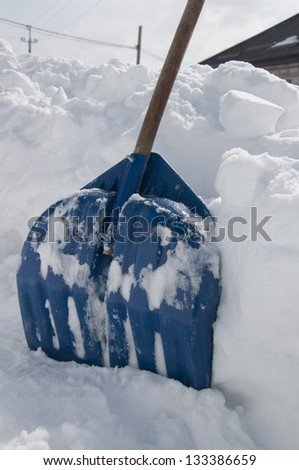 shove snow winter - stock photo