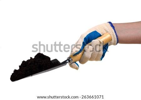 Shovel in hand - stock photo