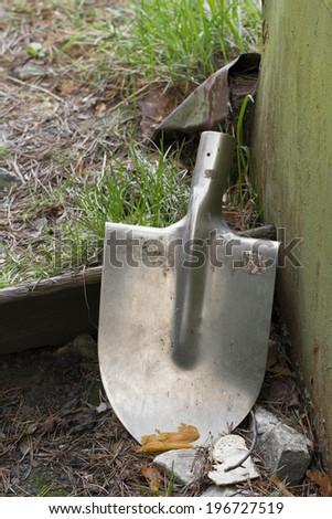 shovel on the white background - stock photo