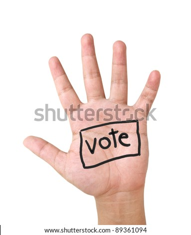 show hand up for vote