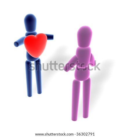 show love in private - stock photo