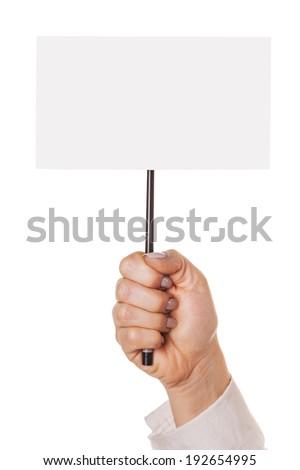 show slogan, isolated white background - stock photo