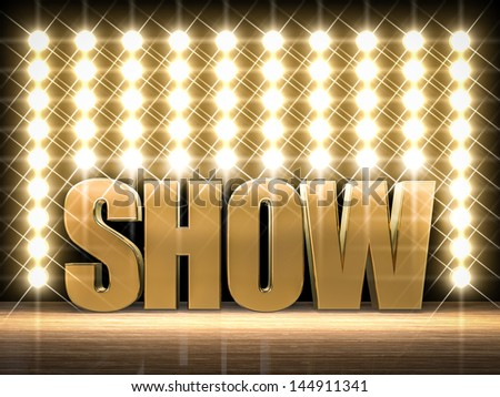 Show time! - stock photo