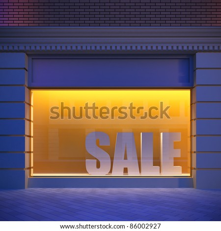 Showcase in classical style. - stock photo