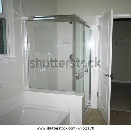 Shower and bathtub - stock photo