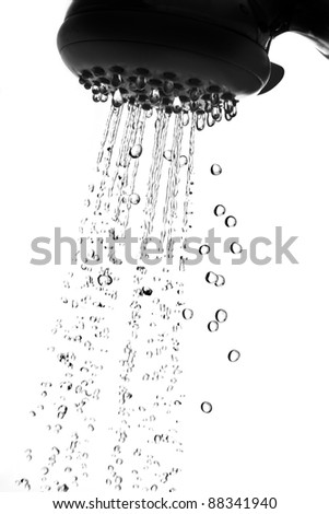 shower and water - stock photo