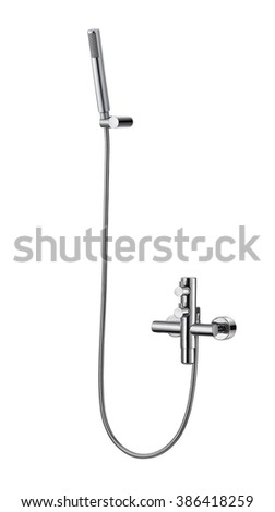 Shower Head Isolated on White Background - stock photo