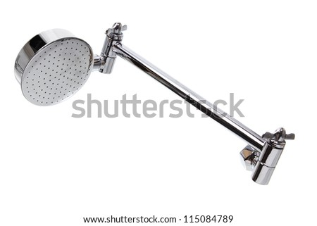 Shower Head on White Background - stock photo