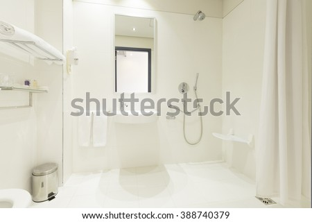 Shower room for disabled people