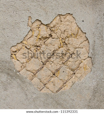 Showered with plaster as a background - stock photo