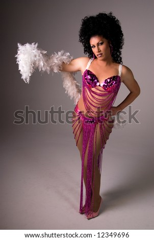 Showgirl Drag queen. - stock photo