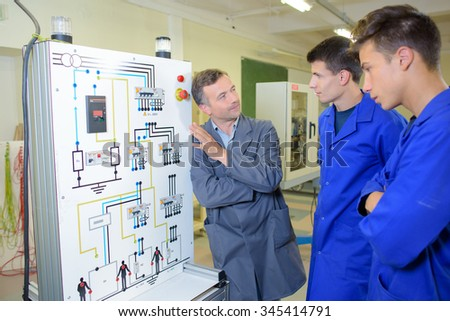 showing a diagram - stock photo