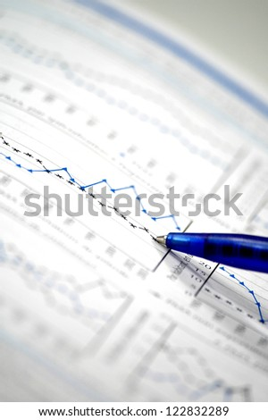 Showing business and financial report  concept of financial report