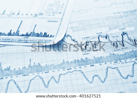 Showing business and financial report. Exchange.  - stock photo