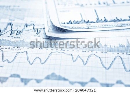 Showing business report - stock photo