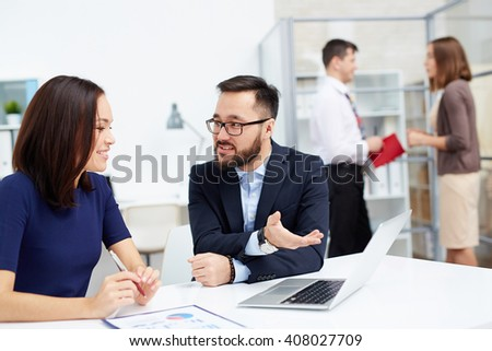 Showing new project - stock photo