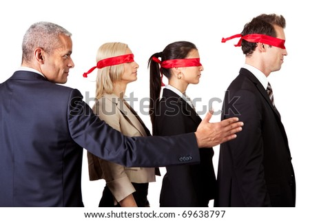 Showing the way - stock photo