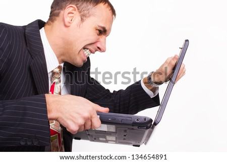 Showing ugly communications concept.Networking - stock photo