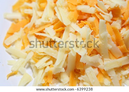 Shredded Cheeses - stock photo