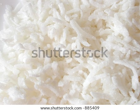 shredded coconut - stock photo