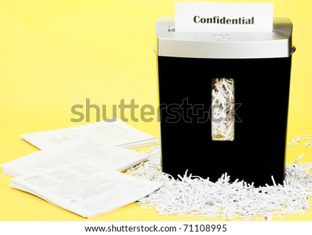 Shredded documents for personal security - stock photo