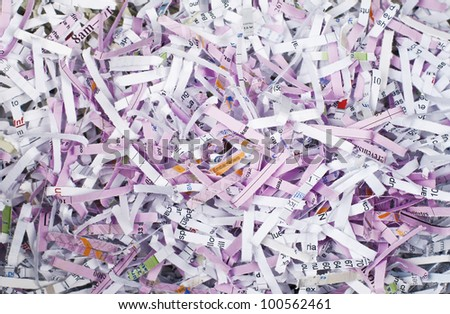 Shredded paper background, colorful paper - stock photo